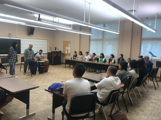 Percussion class with Prof.Michael Lipsey