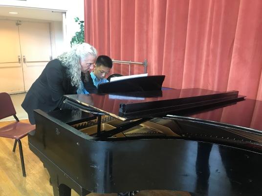 Piano lesson with Prof. Ernest Barretta
